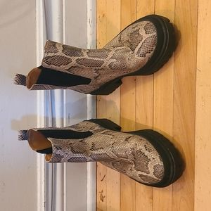 Lucky brand Snakeskin waterproof boots